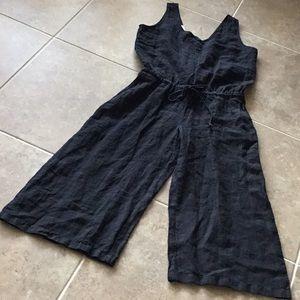 cloth & stone linen cropped jumpsuit, NWOT